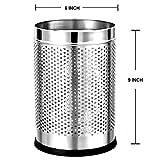 #9: Mochen Stainless Steel Perforated Open Dustbin/ Stainless Steel Garbage Bin/ - 6 litre