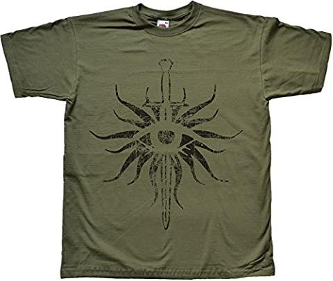 Distressed Inquisition GREEN T Shirt Extra Extra Large