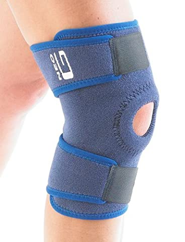 NEO G Open Knee Support - Medical Grade Quality HELPS injured, arthritic knees, strains, sprains, pain, instability, recovery & rehabilitation – Everyday or sporting activities- ONE SIZE Unisex