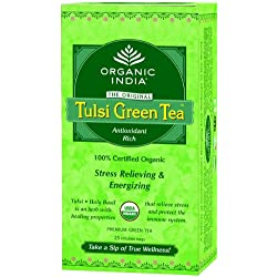 Tulsi Green Tea By Organic India, 25 Tea Bags, Pack of 3