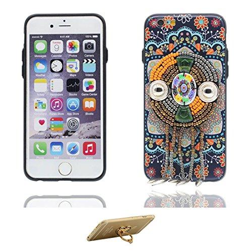 "iPhone 7 Coque Cover, 3D Bead accessoire, TPU Flexible Unique Designed Style national iPhone 7 Étui iPhone 7 Case 4.7"" Poussière Poof & ring Support # 2"