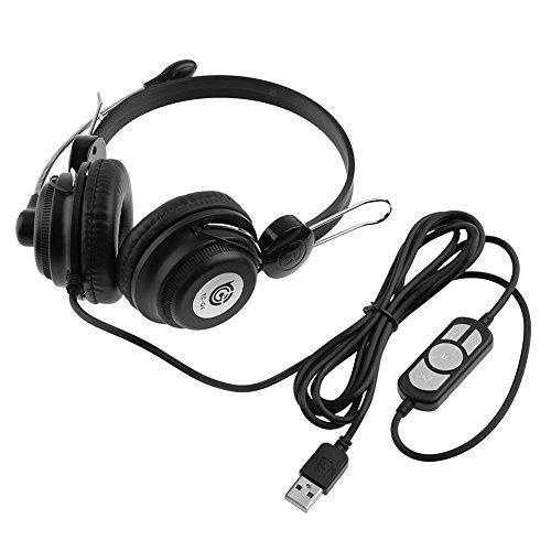 Demiawaking TC-Q4 USB-Headset mit Kopfhörern für Musikspiele, HiFi-Kopfhörer mit Mikrofon