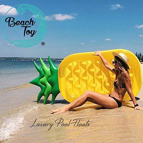 Beachtoy colchón hinchable piña piscina/Playa 180cm x 90cm, talla XXL-Lote de 2