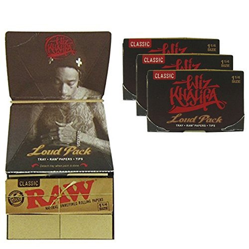 Raw Zigarettenpapier, dünn Große für Zigaretten-3,17cm, Filter und Tablett A Thema Wiz Khalifa Khalifa Artesano, Stil, 3faltbare der Trendz.