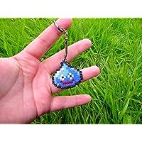 Porte-clés représentant un Gluant de Dragon Quest ( Square Enix ) • Hama Beads • Pixel/art • Perler beads • Hama mini midi