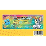 Bloc Carnet de 20invitaciones cumpleaños Tom y Jerry