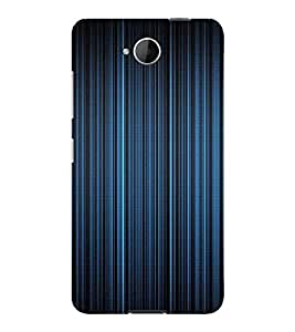 PrintVisa Blue Stripes Design 3D Hard Polycarbonate Designer Back Case Cover for Nokia Lumia 650