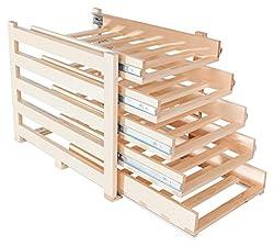 Wine Logic WL-MAPLE30 In-Cabinet Sliding Tray Wine Rack, 30-Bottle, Solid Maple Wood