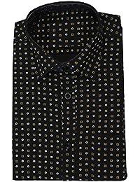 JPF Smart Mens Regular Fit Semi Formal Half Sleeve Black Color Shirt ((M,L,XXL,2XL,XXXL,3XL,XXXXL,4X-Large))