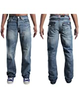 MENS JEANS APT A42 BOOTCUT LIGHT-BLUE JEANS 28 TO 48 BOOT CUT SPECAIL DEAL