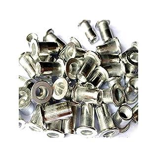 Veda Total 100pièces de 25x M4, 25x M5, 25x M6, 25x M8fileté en aluminium rivet écrou insert