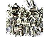 Veda Rivetti filettati in alluminio, confezione da 100, 25xM4, 25xM5, 25xM6, 25xM8