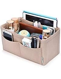 Hokeeper Felt Purse Insert Organizer, Handbag Organizer, Bag in Bag, Diaper Bag Organizer, Stand on Its Own,12 Compartments, 4 Sizes, 6 Colors