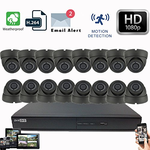 Dvr Security Lock Box (16 CH CCTV DVR HIKVISION hiwatch 16 x Sicherheit Dome Kamera System HDMI 1080p (weiß))