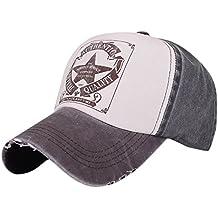 Gorras de Béisbol hip-hop Caps con Cinco Estrellas e Inglés Sombreros del estilo Retro