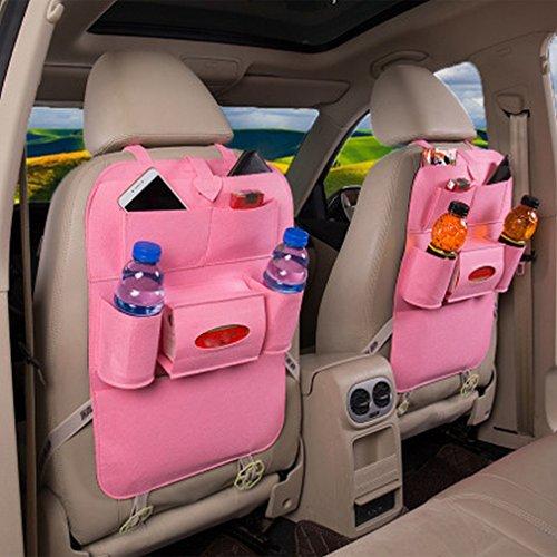 IU Material: Hohe Qualität Decken Composition: round cup holder box, horizontal sh Leather car storage bag seat bag hanging bag sto