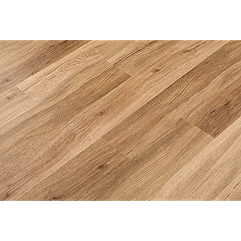 3,2 mm Click Vinilo maciza Wood Natural 150 x 1220 mm