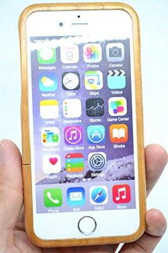 RoseFlower® Coque iPhone 6 4.7'' en Bois Véritable - Cerisier bois indien Bouddha - Fabriqué à la main en Bois / Bambou Naturel Housse / Étui avec Gratuits Film de Protecteur Écran pour votre Smartpho CerisierboisindienBouddha