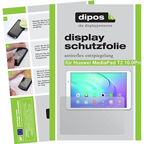 dipos Huawei MediaPad T2 10.0 Pro Schutzfolie (2 Stück) - Antireflex Premium Folie matt