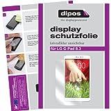 dipos I 2X Schutzfolie klar passend für LG G Pad 8.3 Folie Bildschirmschutzfolie