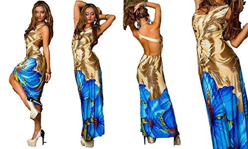 IL BAZAR - Robe - Asymétrique - Sans Manche - Femme Taille unique beige blu