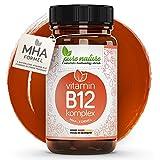 100% NATUR & REIN: Vitamin B12 KOMPLEX MHA-Formel | MINI-Kapseln | Vegan | Hochdosiert 1000 mcg | Premium Qualität | Made in Germany | Laborgeprüft | Methylcobalamin Hydroxocobalamin Adenosylcobalamin Präpara