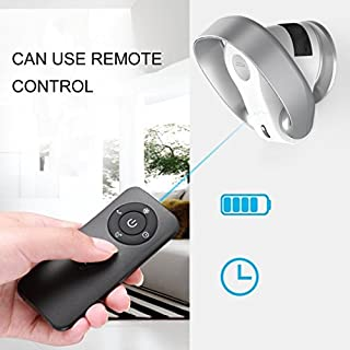 HomePro Wall-Mounted Fan Air Conditioning Fan Bladeless Cooling Fan Remote Control Shake - SILVER