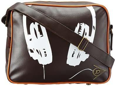 Dunlop  Music, sacs bandoulière adulte mixte - Marron - Braun (brown/white), 40x30x12 cm (B x H x T) EU