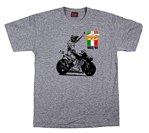 Quaint Point Valentino Rossi Vintage Look Bikers Motorrad Herren T-Shirt MOTO25 (XL) -