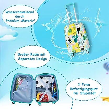 DREAMADE-2tlg-Kinderkoffer-mit-Rucksack-Koffer-Set-Kinder-Koffer-Kindertrolley-Kindergepck-Handgepck-fr-Mdchen-und-Jungen-Reisegepck-Hartschalenkoffer