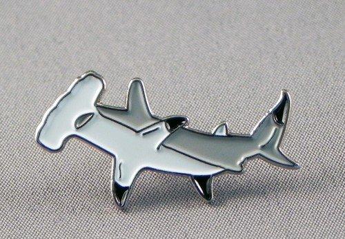 Metal Enamel Pin Badge Brooch Hammer Head Shark Sphyrnidae