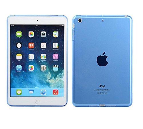 iPad Mini Clear TPU Case, ProtoCASE Crystal Clear Soft TPU Gel Case with  Shock Absorption for Apple iPad Mini 1 / 2 /3 [Old Version] (Blue)