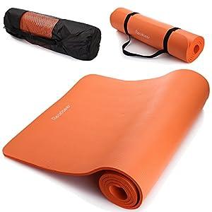 Readaeer Fitnessmatte Yogamatte für Gymnastik Yoga Pilates 183 x 61 x 1,0 cm mit Tasche und Tragegurt [MEHRWEG]