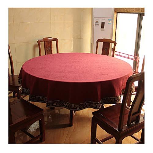schdecken for Runde Tische, Chevron-Stoff-Tischdecke, Tischdecke, Umweltfreundlich, Weich Und Atmungsaktiv (Color : C, Size : 200cm) ()