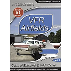 VFR Airfields - Volume 2 : Central England and Mid Wales (PC CD)