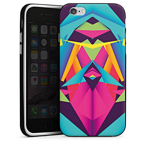 Apple iPhone X Silikon Hülle Case Schutzhülle Friendly Color Dreiecke Muster Silikon Case schwarz / weiß