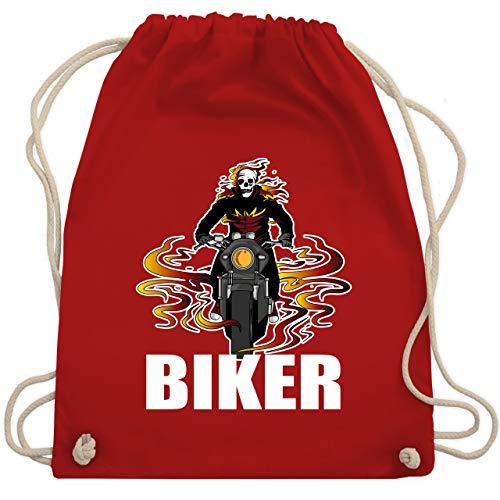 Motorräder - Skelett Motorradfahrer Biker - Unisize - Rot - WM110 - Turnbeutel & Gym Bag
