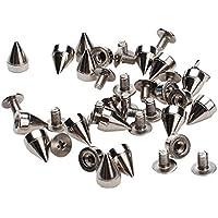 Generic - Cono de plata 100pcs espigas screwback espárragos para diy artesanía cuero - perfecto para