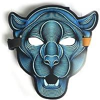 PromMask Mascara Facial Careta Protector de Cara dominó Frente Falso LED máscara de Brillo Activado por