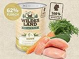 Wildes Land Hundefutter Nassfutter Huhn 400g (18 x 400g)