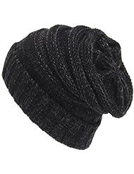 Unicoco Sombrero de Lana Tejida Gorras de Suave Warm Caps Invierno Mujeres 1 Pieza