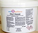 well2wellness Chlor C Granulat - Calciumhypochlorit Granulat mit ca. 70% Aktivchlor Speziell für Weiches Wasser - 3,0 kg