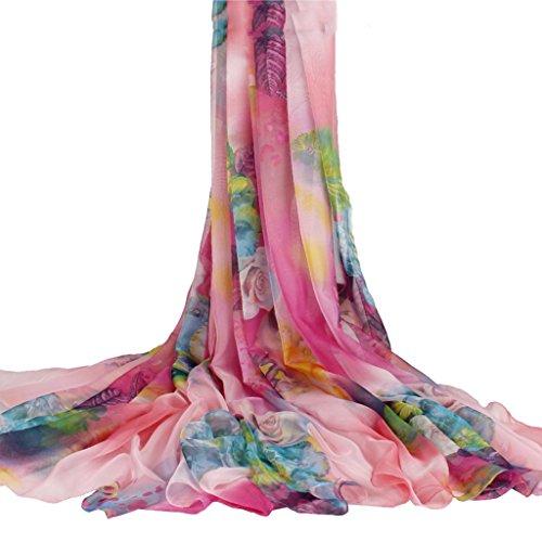 serviette de plage Écharpe en mousseline de soie en mousseline de soie Écharpe solaire Écharpe sauvage à double usage ( Couleur : #13 ) #6