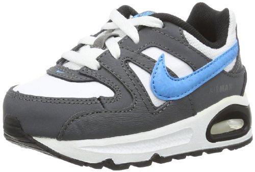 Nike Air Max Command 412229-116 Unisex-Baby Lauflernschuhe Mehrfarbig (White/Grey/Blue 116) 41778 (Blue Max Air Baby)