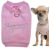 Schatz Schriftzug Italienisch Nicki Chihuahua Softgeschirr Brustgeschirr in L Made IN Italy UVP 54,95 EUR