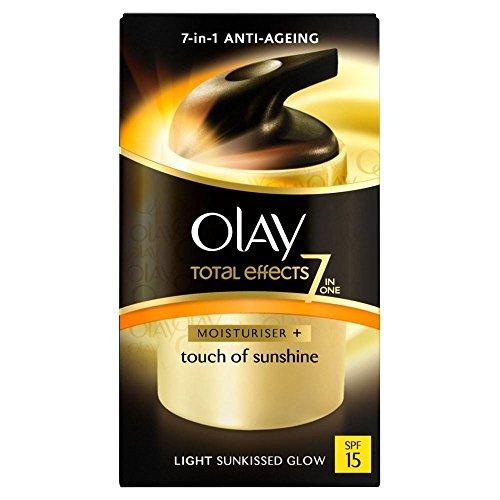 Total Effects de Olay 7in1 tactile de soleil avec FPS 15 - Light (37ml) - Paquet de 6