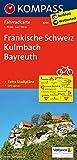 Fränkische Schweiz, Kulmbach, Bayreuth: Fahrradkarte. GPS-genau. 1:70000: Fietskaart 1:70 000 (KOMPASS-Fahrradkarten Deutschland, Band 3096) -