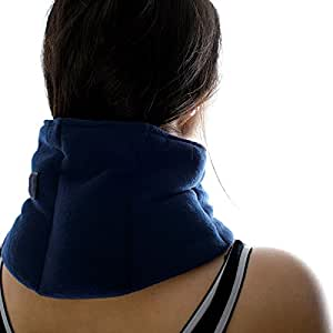 Zhu-Zhu Soothing Neck & Joint Wrap - Microwavable Unscented Wheat Bag Navy Fleece
