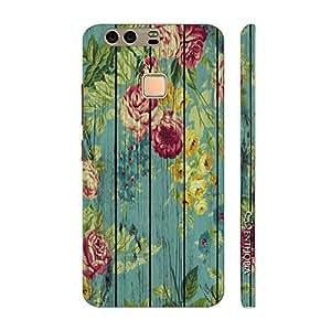 Enthopia Designer Hardshell Case Floral Splash Back Cover for Huawei P9
