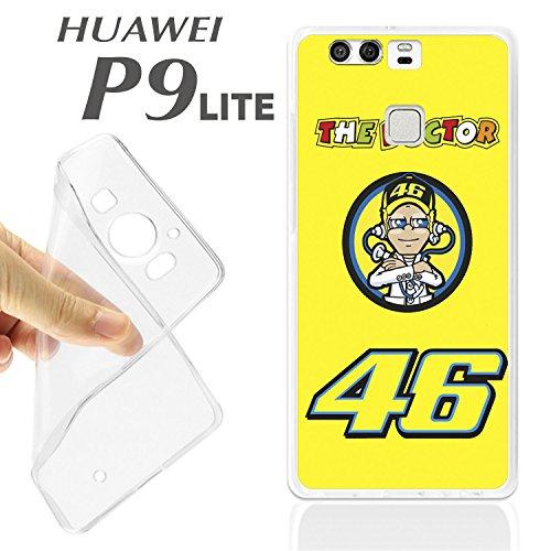 Schutzhülle + Displayschutz aus optischem Glas für Huawei Ascend P9 Lite The Doctor Valentino Rossi 46 MOTOREN K148